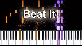 Michael Jackson Beat It Piano Tutorial + Sheet Music Available!!