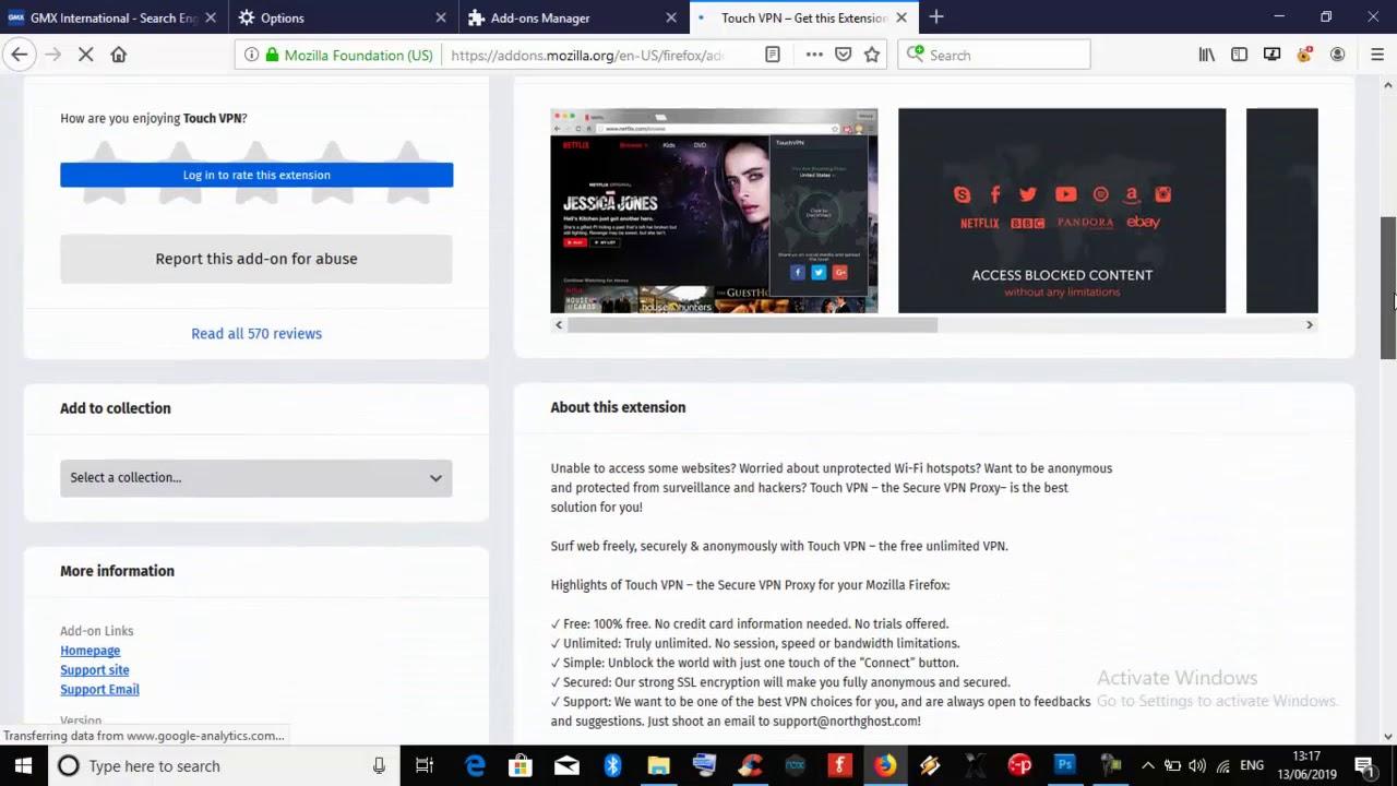 Install VPN Mozilla Firefox