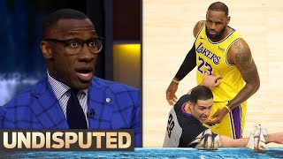 Skip & Shannon on LeBron's bizarre interaction w/ courtside fan & win at Hawks   NBA   UNDISPUTED