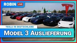 Robin LIVE 🔴 Tesla Model 3 in Deutschland 🚗⚡Alles was du wissen musst.