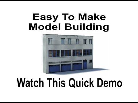 Model Railroad Scenery Backdrop – Low Relief Model Building B455