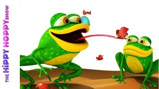 Five Little Speckled Frogs - Nursery Rhymes For Kids And Children | Baby Songs | Hippy Hoppy Show