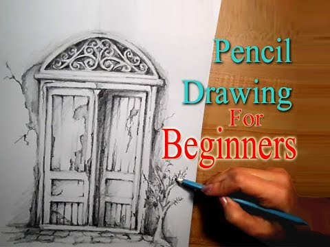 Pencil Drawing Tutorial for Beginners ,Step by Step draw Vintage Door Pencil Sketch