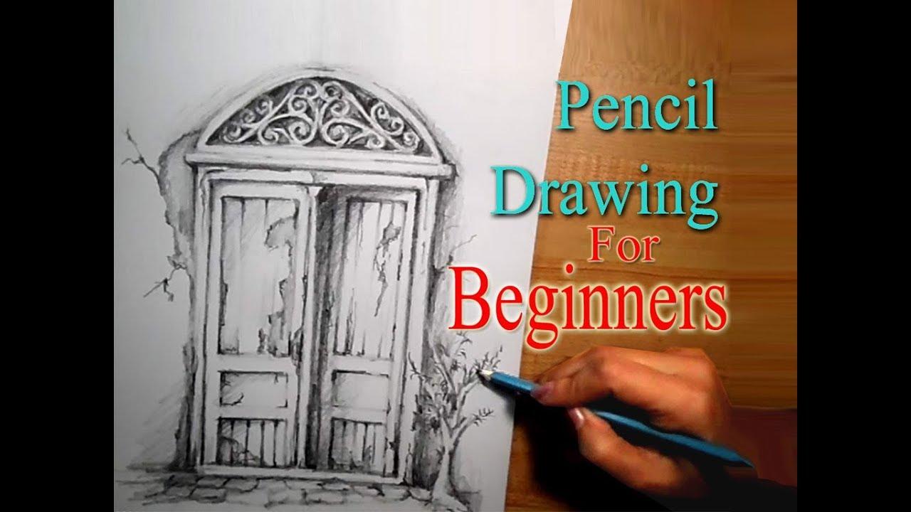 door pencil drawing victorian window pencil drawing tutorial for beginners step by step draw vintage door sketch