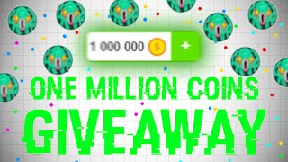 Agar.io - 1 MILLION COINS GIVEAWAY! (30,000 SUBS!) [OPEN]