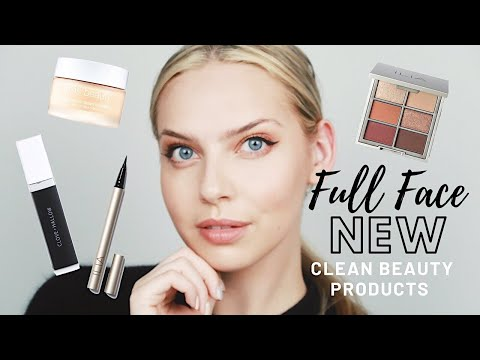 FULL FACE OF *NEW* CLEAN BEAUTY PRODUCTS | FALL INSPIRED MAKEUP LOOK