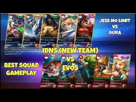 IDNS vs EVOS [BEST SQUAD GAMEPLAY] Mobile Legends Indonesia