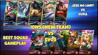 IDNS vs EVOS [BEST SQUAD GAMEPLAY] Mobile Legends Indonesia