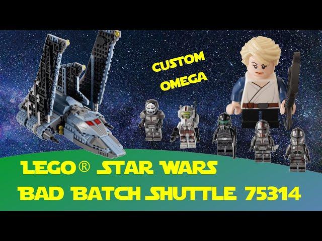Bad Batch Lego Star Wars 75314 mit Custom Figur Omega