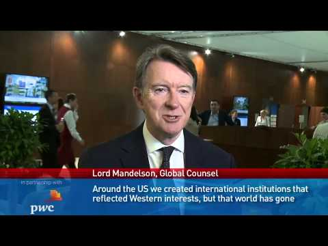 Lord Mandelson, Chairman, Global Counsel LLP; European Commissioner for Trade 2004—2008)