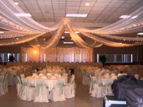 ceiling decoration ideas for a wedding reception