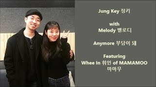 Video Jung Key 정키 with Melody 멜로디 – Anymore 부담이 돼 feat. Whee In of MAMAMOO - Han, Eng, Rom Lyrics download MP3, 3GP, MP4, WEBM, AVI, FLV Agustus 2018