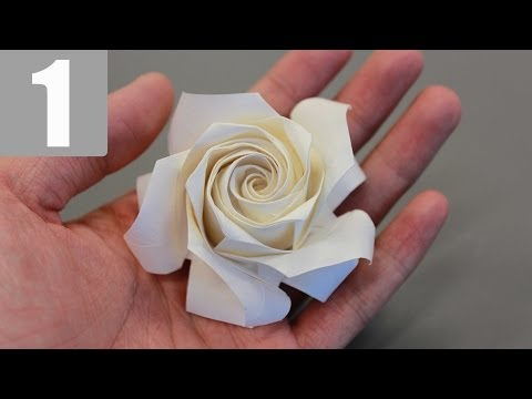 Papercraft Part1/3 : How to fold Naomiki Sato Origami Rose (Pentagon Rose) 佐藤直幹 摺紙玫瑰教學