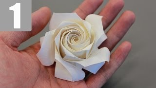 Part1/3 : Naomiki Sato Origami Rose (pentagon Rose) Tutorial 佐藤直幹 摺紙玫瑰教學