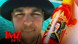 Rob Kardashian & Kris Jenner Launch a New Hot Sauce | TMZ TV