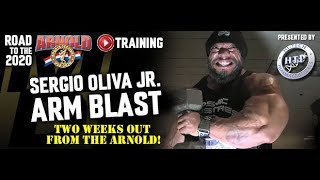 SERGIO OLIVA, JR: MASSIVE ARM TRAINING| 2 WEEKS OUT FROM ARNOLD CLASSIC 2020 | ROAD TO THE ARNOLD |