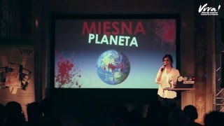 """Wykład """"Mięsna planeta – jak hodowla 60 miliardów zwierząt na mięso wpływa na Ziemię."""""""