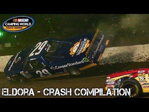 Nascar Truck Series - 2017 - Eldora - Crash Compilation