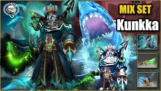 Kunkka Best Mix Set Pack-Ice Privateer + Leviathan Whale Blade of Eminent Revival + Saltworn Mariner