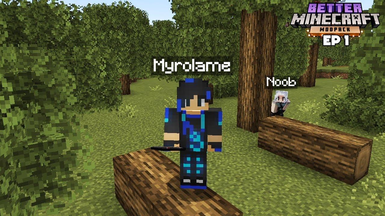 Download Minecraft mais en MIEUX avec un NOOB ! - Episode 1 BetterMC 1.17