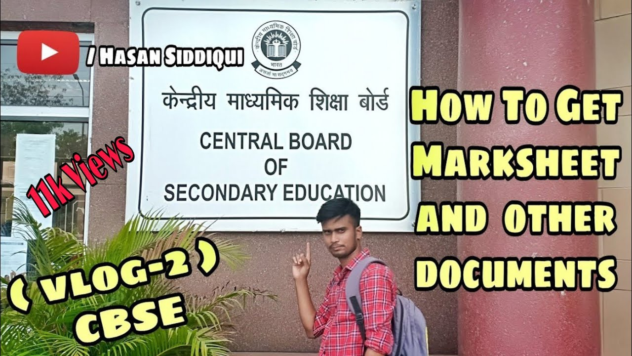 How to get DUPLICATE MARKSHEET and other DOUCOMENTS from CBSE |VLOGS|HASAN  SIDDIQUI|