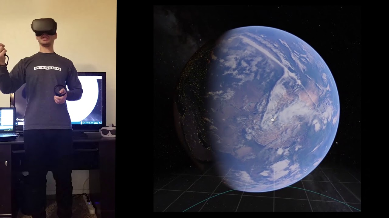 Google Earth on Oculus QUEST / GO in Virtual Reality with