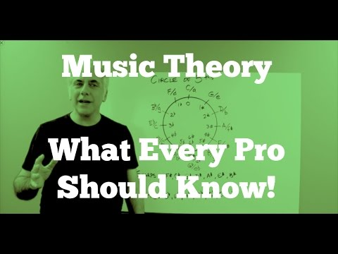 Music Theory Lecture – What Every Pro Musician Needs To Know