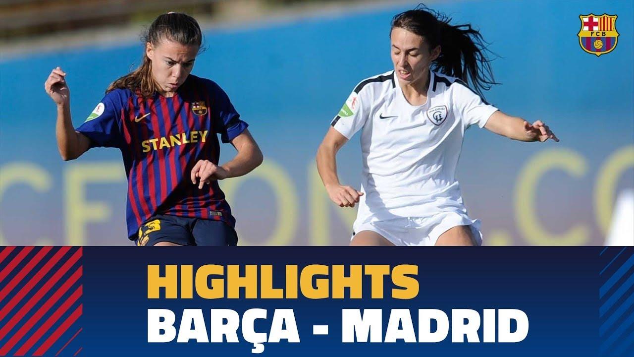 HIGHLIGHTS] FUTBOL FEM (Liga): FC Barcelona – Madrid CFF - YouTube