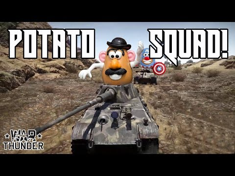 Potato Squad! Part 1 - German Units War Thunder Gameplay/Comedy Outtakes