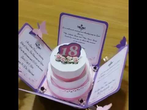 Exploding Box 18th Birthday Invitation