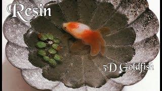 3D Goldfish in Resin | Trying 3D Goldfish Clear Film Sticker for Resin Art