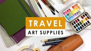 My travel art supplies - Favorite art supplies in my art bag