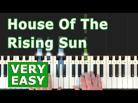 The House Of The Rising Sun - VERY EASY Piano Tutorial - Sheet Music (Synthesia) thumbnail
