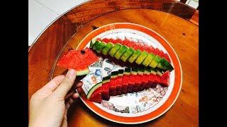 Cách Trang tri dưa hấu | Phượng Phạm | Thiên đường ẩm thực