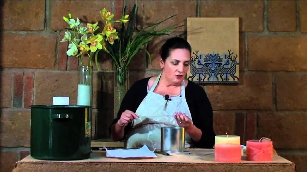 C mo hacer una vela en casa doovi - Como hacer velas en casa ...