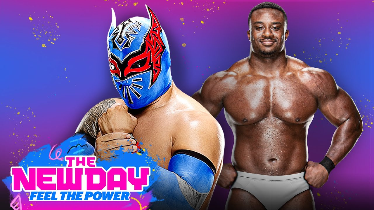 Sin Cara and the Big E pantsing plot: The New Day: Feel the Power: March 1, 2021
