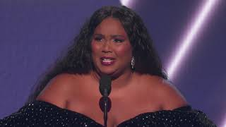 Lizzo Wins Best Pop Solo Performance | 2020 GRAMMYs Acceptance Speech