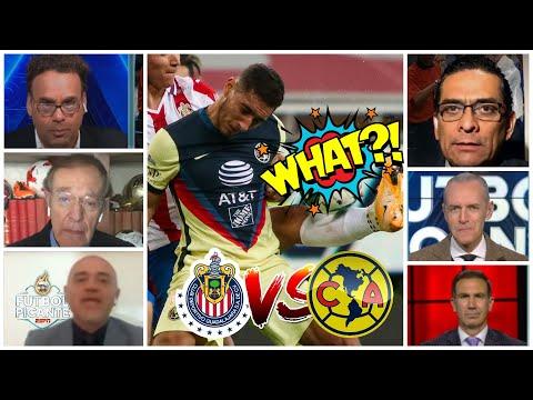 CHIVAS vs. AMÉRICA con polémica arbitral. Mano de Cáceres, ¿penal o no penal?   Futbol Picante