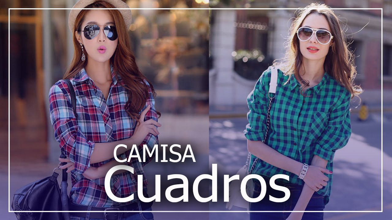 Camisa y blusa de cuadros mujer dise os de moda youtube - Disenos de cuadros ...