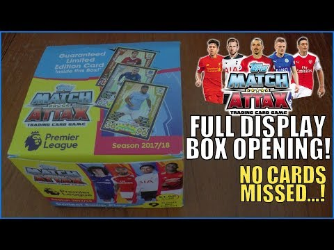 FULL DISPLAY BOX UNBOXING ! | Match Attax 2017-18 Premier Le