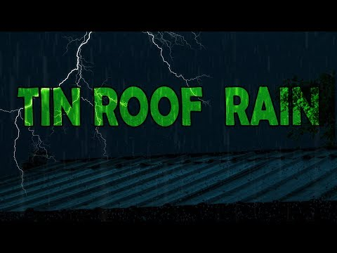 🎧 TIN ROOF RAIN with Thunderstorm | Ambient Noise Sleep and Meditation Sounds| @Ultizzz day#49