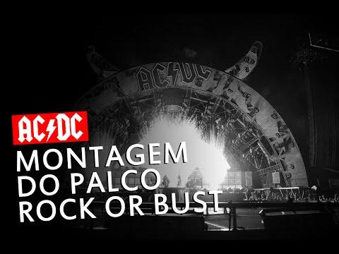 "AC/DC - Montagem do Palco da turnê ""Rock or Bust"" (BC Place)"