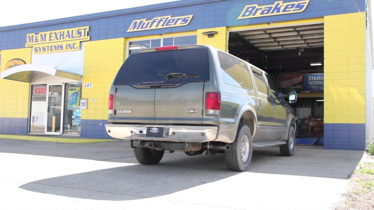 2001 Ford Excursion V10 Exhaust Black Widow