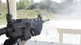 Freedom Ordnance FM-9 Belt Fed AR-15/M16 upper firing 1000 round 9mm belt