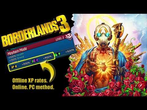 Borderlands 3 900% XP (offline XP Rates) Online For PC. After Patch.