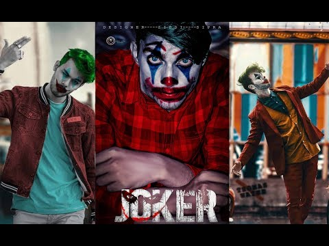 VIJAY MAHAR joker photo editing concept clear in 1 click | Photoshop Tutorial | ZS PICTURES thumbnail