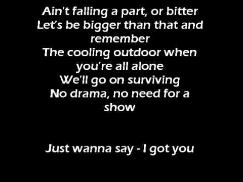 Leona Lewis  I got you with Lyrics