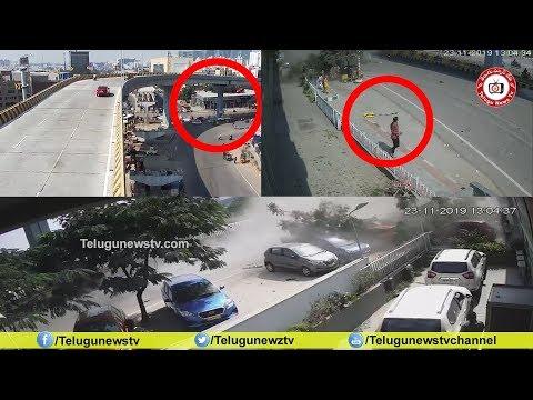షూటింగ్ లెవెల్లో హైదరాబాద్ లో కార్ ప్రమాదం#Car Accident in Gachibowli Hyderabad#TeluguNewsTv