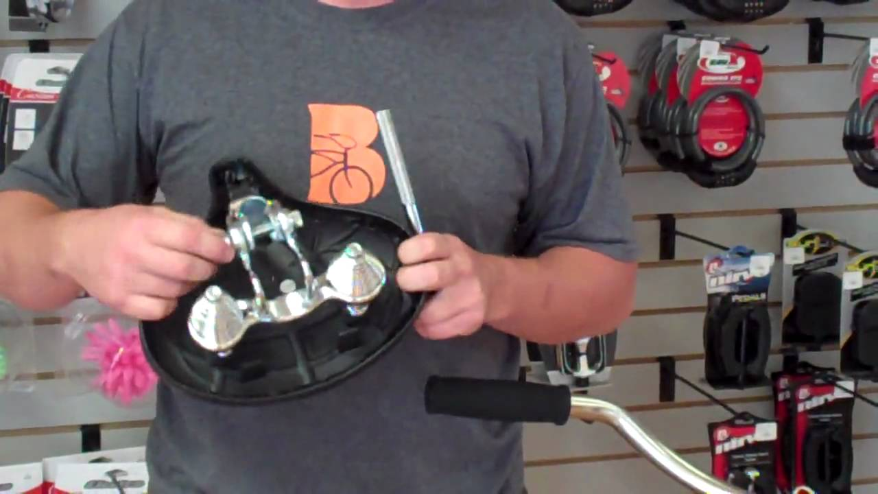Changing the seat on a beach cruiser bicycle  YouTube