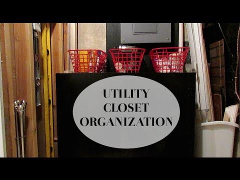 Utility/Tool Closet Organization   YouTube